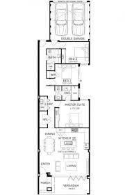 Narrow Home Plans Designs Beach House Single Storey Home Design Floor Plan Wa Home