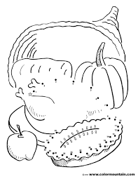 Thanksgiving Activity Coloring Page