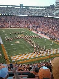 Tennessee Volunteers Football Seating Chart Neyland Stadium Section Nn Row 3 Seat 24 Tennessee