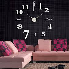 modern art wall clock sticker home office decor hover to zoom