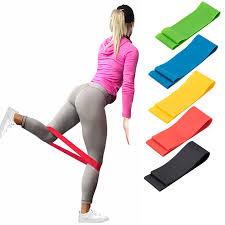 500mm <b>Women</b> Rubber Loop Pilates <b>Resistance Bands</b> Set <b>Fitness</b> ...