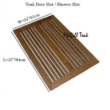 brilliant teak shower