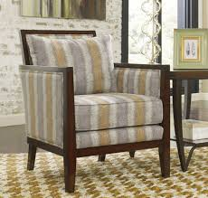 Wooden Arm Chairs Living Room Furniture Cream Upholstered Chair Patterned Arm Chair Accent