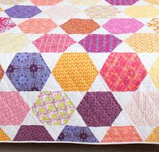 1102 best Pleasing Pieced Quilts: Hexagons & Octogons images on ... & Colorful Hexagon Quilt Kit Adamdwight.com