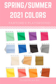 The pantone colour institute is well respected for its annual colour of the year. Spring Summer 2021 Pantone Colors Closet Play Image