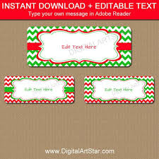 Address Label Templates Mesmerizing Printable Christmas Address Labels EDITABLE Holiday Address Etsy
