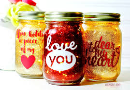 Mason Jar Twinkle Lights Twinkle Lights Glittered Valentine Jars Annmarie John A