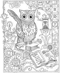 owl coloring pages for adults.  Owl Complex Owl Coloring Pages For Adults Printable Throughout For L