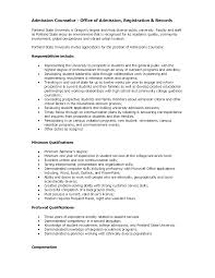 Sample Resume for Academic Advisor Position Fresh Sample Admission Counselor  Cover Letter 5 Free Documents In Pdf