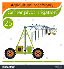 Center Pivot Design Center Pivot Irrigation Vector Illustration Stock Vector