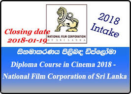 diploma course in cinema national film corporation of sri  diploma course in cinema 2018 national film corporation of sri lanka
