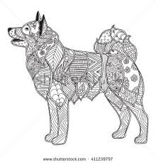 Small Picture stock vector coloring pages for adults coloring book dog with high