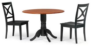 42 round dining room table set in black cherry top