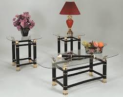 3 piece table set. Glass Horn 3 Piece Table Set
