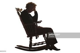 rocking chair silhouette. Silhouette Of Elderly Woman In Rocking Chair