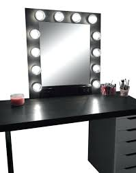 breathtaking black makeup vanity with lights for your elegant design small mirror el