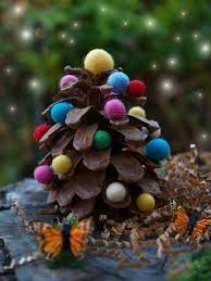 Holiday Pine Cone Crafts  Bing Images   Unlimited Life Hacks Pine Cone Christmas Tree Craft Project