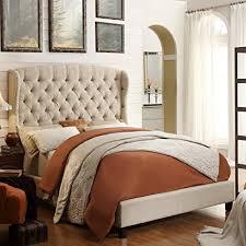 felisa upholstered panel bed. Fine Upholstered Felisa King Upholstered Platform Bed Beige In Panel Bed N