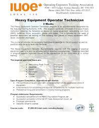 Heavy Equipment Operator Resume Sample Technician