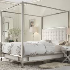 Canopy Bed Crown Molding Romantic Bed Canopy Drapes With White Curtains On Simple Wooden