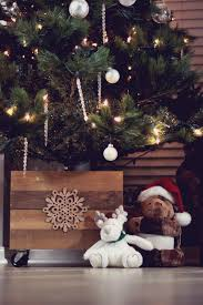 Rustic Christmas tree box with a twist