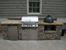 stacked stone grilling station with egg