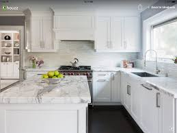 White Kitchen Houzz Kitchen Remodel Backsplash Kitchen White