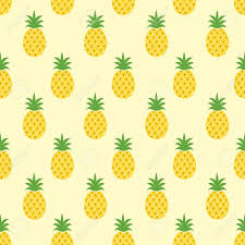 Pineapple Pattern Cool Seamless Pineapple Pattern Cute Pineapple Doodle Pattern For