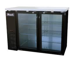 Glass Refrigerator Migali 48 Back Bar Refrigerator Glass Doors C Bb48g Modern