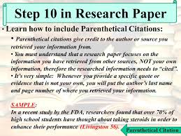 the almighty research paper ppt video online  34 parenthetical citation step 10 in research paper learn how to include parenthetical
