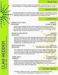 Resume Beautiful Bartender Resume Template Bartender Resume