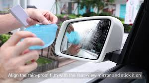 <b>Baseus 0.15mm</b> Rainproof Film for <b>Car</b> Rear-View Mirror (2 pcspack ...