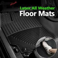 Fits 12-17 Toyota Camry Heavy Duty <b>Black Latex</b> Floor Mats Front ...