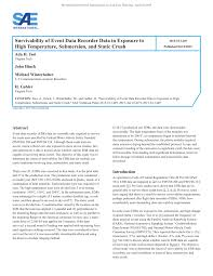 pdf survivability of event data recorder data in exposure to high rature submersion and static crush