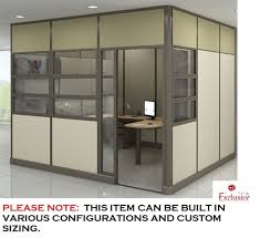 modular wall ceiling private office cubicle workstation with door