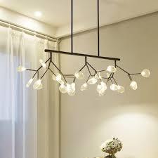 personality heracleum led chandelier black gold multi light 47 24 long branch pendant lighting indoor