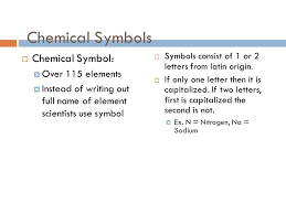 ELEMENTS, CHEMICAL SYMBOLS AND THE PERIODIC TABLE. - ppt download