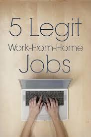 legitimate work from home jobs opportunities