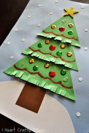 Christmas Tree In Chart Paper Kids Christmas Tree Craft Christmas Trees For Kids