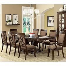 FA3103T  MORGAN ANTIQUE CHERRY SOLID WOOD 9 PIECE ELEGANT FORMAL Solid Wood Formal Dining Room Sets
