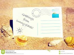 Postcard On A Sandy Beach Stock Photo - Image: 41475343