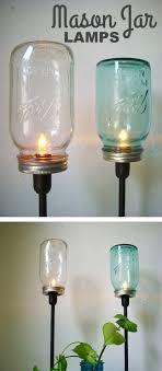 DIY Mason Jar Lamps -- DIY mason jar crafts and ideas for Christmas,  holidays