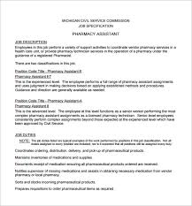 Job Description Of Pharmacy Technician For Resume Best of 24 Pharmacist Job Description Templates Free Sample Example