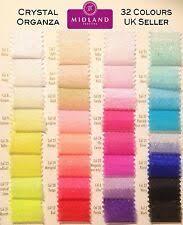 Organza Wedding Craft Fabric Lots for sale | eBay