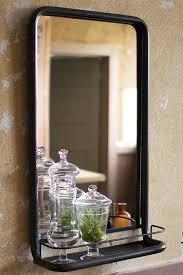 wesley black bathroom mirror with shelf