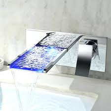 bathtub waterfall faucets led wall mounted bathroom faucet absolutely stunning tub filler b