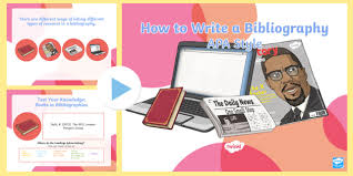 Apa Style For Powerpoint How To Write A Bibliography Apa Style Powerpoint