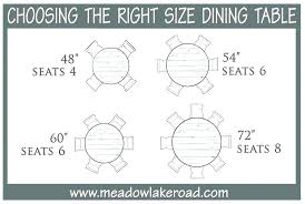 8 person round table dimensions dining set size for awesome seat room sets
