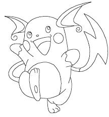 Disegno Di Raichu Pokemon Da Colorare Per Bambini Con Disegni