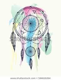 Dream Catcher Works Inspiration Dream Catcher Tattoo Art Dot Works Stock Vector Royalty Free